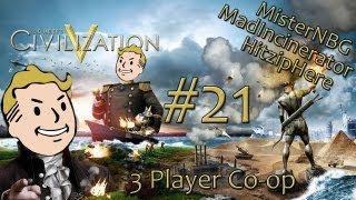 Sid Meier's Civilization V w/MisterNBG, MadIncinerator & HitzipHere - Part 21 (Co-op / PC Gameplay)
