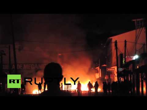 Mexico: Business dispute ENGULFS Chiapas streets in fiery inferno