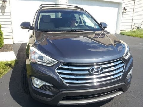 Hyundai Santa Fe Oil Filter Location, 3.3L 6 cylinder engine, 2013+ and oil drain bolt location