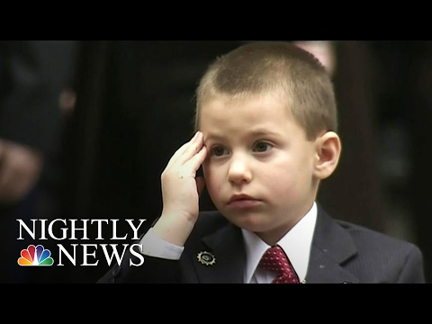 New York Cop's 4-Year-Old-Son Gives Heartbreaking Salute at Funeral | NBC Nightly News