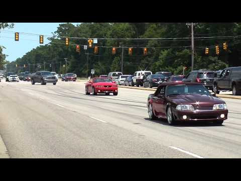 2014 Mustang Week Pull outs, Burn outs, Cop chase, and Cobra Crash!