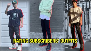 rating my subscribers' outfits! (episode #1?)