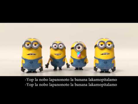 Despicable Me 2 | Minions Banana Song Lyrics video