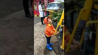 Azka... permainan pemadam kebakaran anak anak