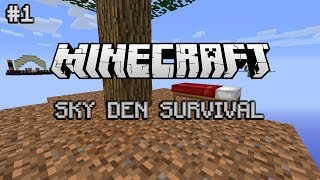 Minecraft: Sky Den Survival Ep. 1 - Beefed Out SkyBlock!