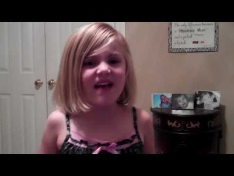 Avery, my 6 year old singing If I Die Young, The Band Perry (cover)
