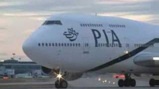 PIA Boeing 747 take off