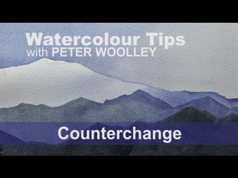 Watercolour Tip from PETER WOOLLEY: Counterchange