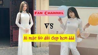 Linh Ka - Khánh Vân|| Ai mặc áo dài đẹp hơn ???