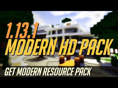 How to get Modern Texture Pack in Minecraft 1.13.1 - download install Modern HD Pack [resource pack]
