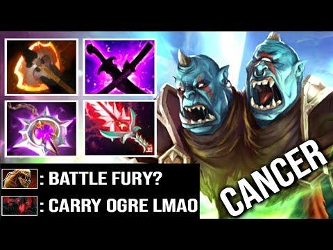 NEW META CARRY Ogre Magi Battle Fury RAMPAGE Like a Boss by Gunnar 7.14 Bloodlust Buff WTF Dota 2