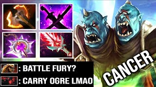 NEW META CARRY Ogre Magi Battle Fury RAMPAGE Like a Boss by Gunnar 7.14 Bloodlust Buff WTF Dota 2