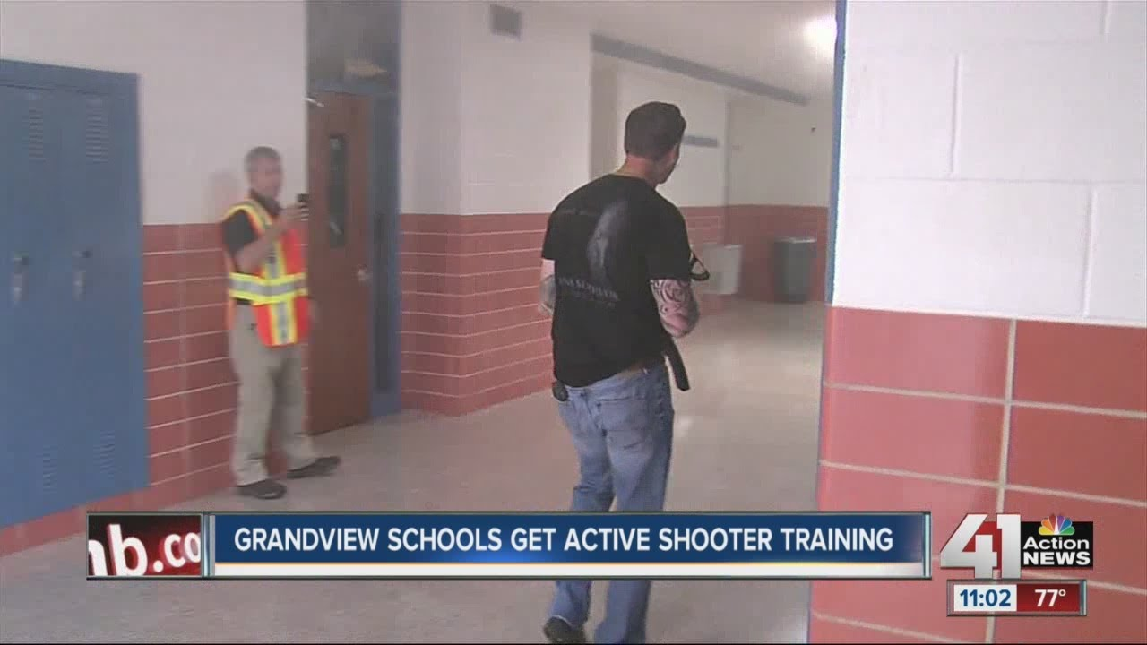 Grandview Schools get active shooter training - YouTube