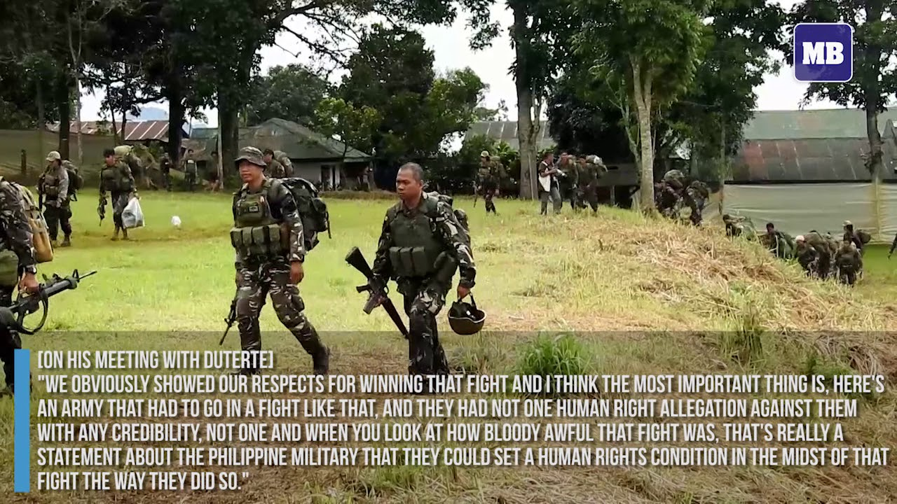 Mattis says Philippine troops upheld rights in Marawi battle
