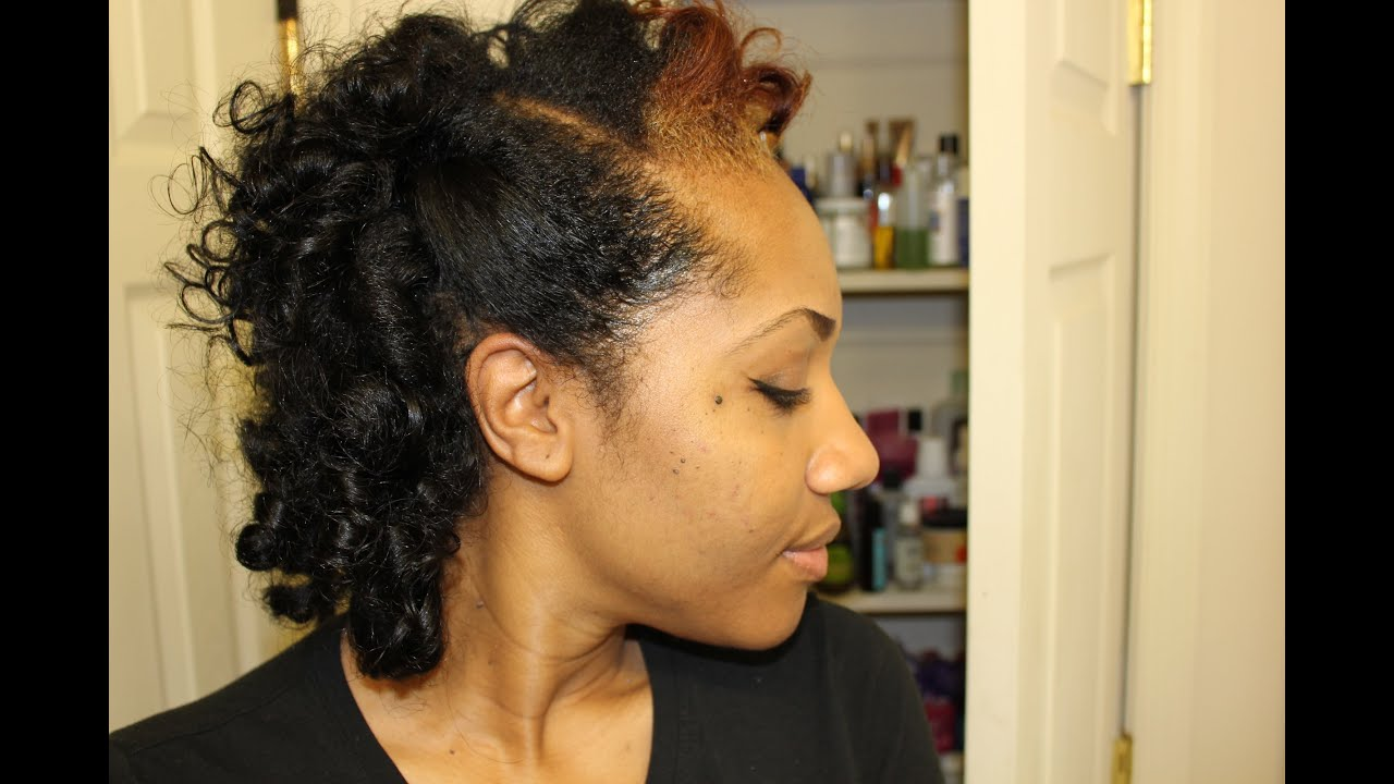 Natural Hair Roller Set With No Heat Youtube