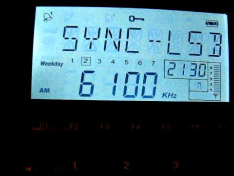 SW: International Radio Serbia 6100 KHz Bijeljina, Bosnia and Herzegovina 2011-05-10