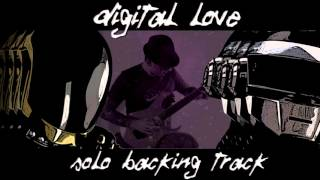 Digital Love Guitar Solo Backing Track