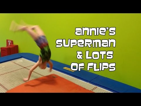 Annie's Superman & Lots of Flips At Open Gym  | Gymnastics With Bethany G