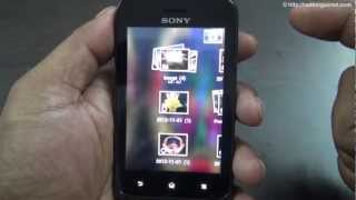 Sony Xperia Tipo Review Part 3 full HD_ Interface