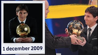 [BEHIND THE SCENES] 10 years since Messi's first Ballon d'Or