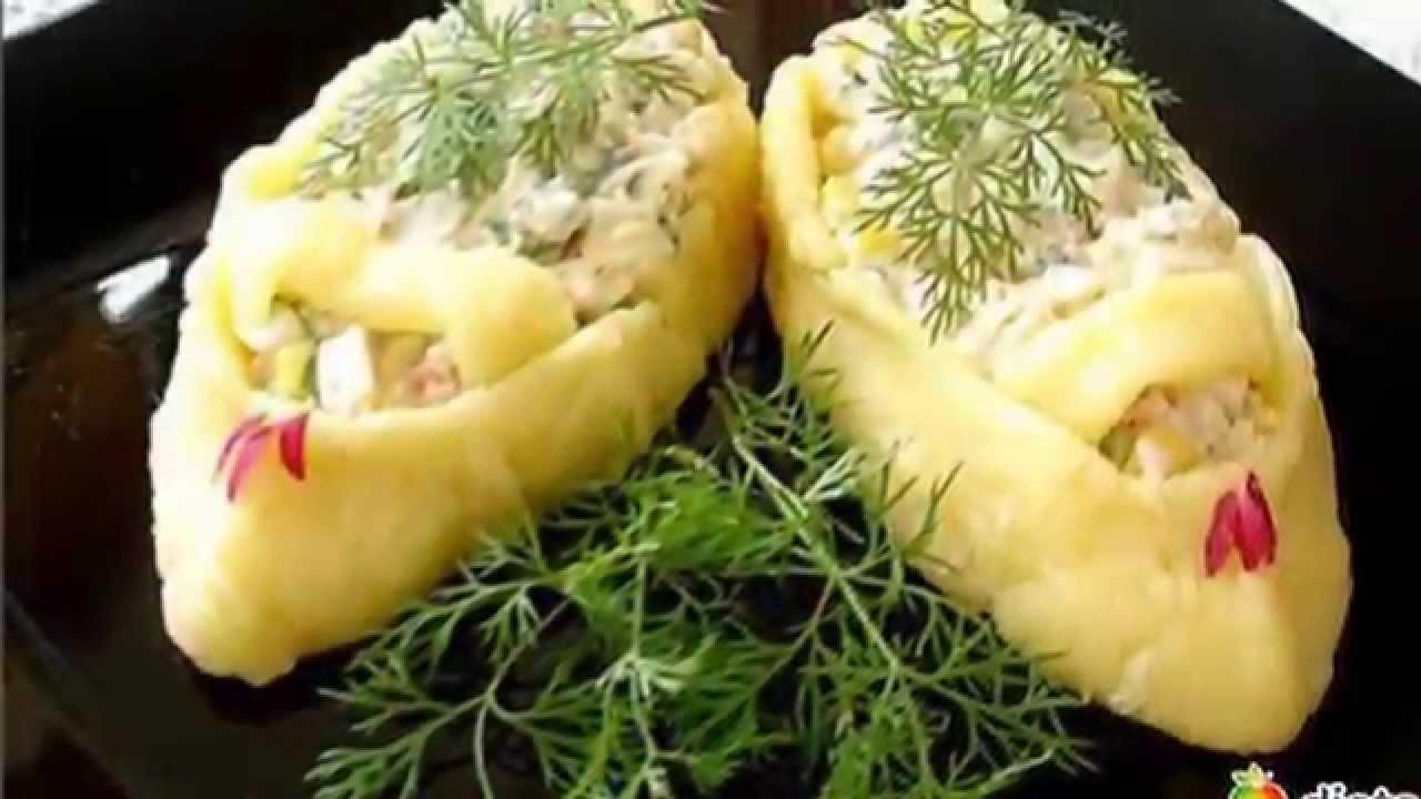 Салаты порционные в кольце рецепты