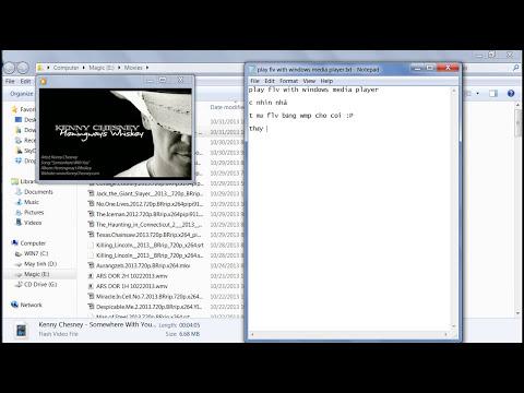 mở video flv bằng windows media player 11