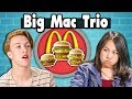 BIG MAC TRIO CHALLENGE! | Teens Vs. Food