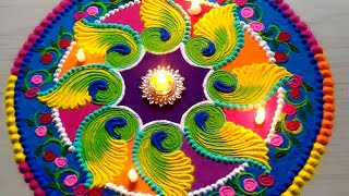 Beautiful  FESTIVAL'S rangoli designs with colours