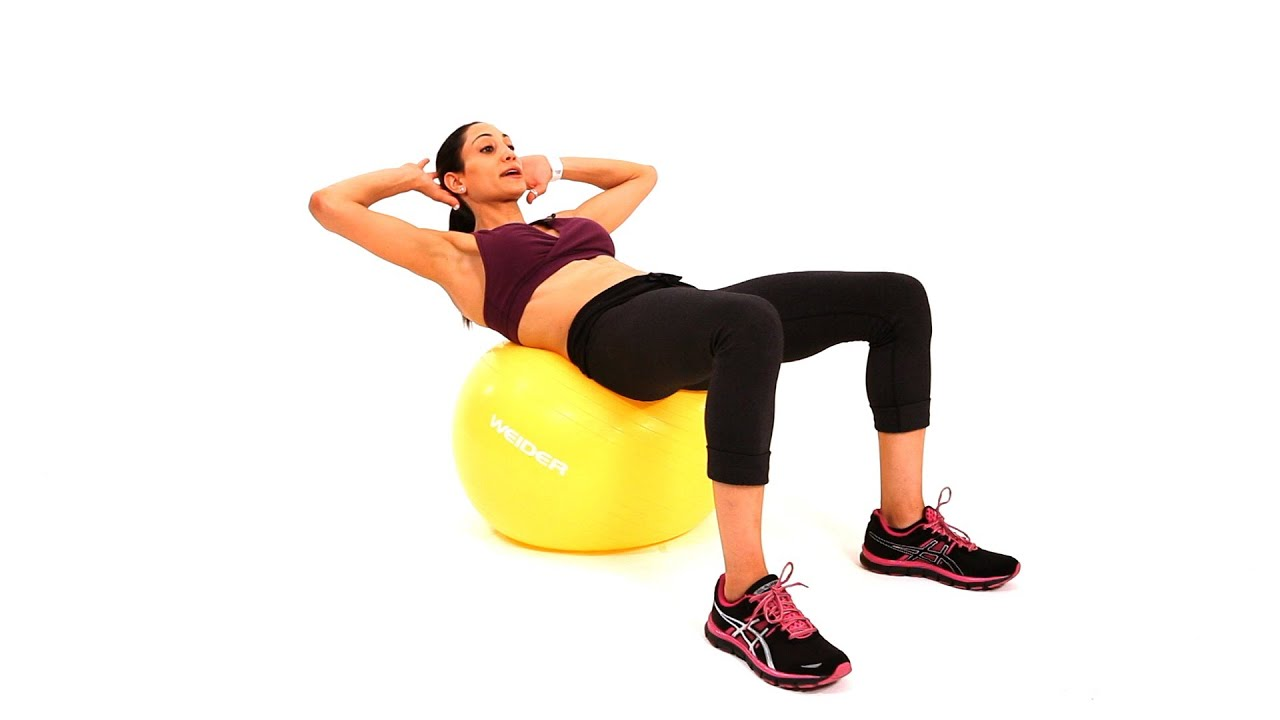 how to do ab crunches w stability ball bosu ball workout youtube. Black Bedroom Furniture Sets. Home Design Ideas