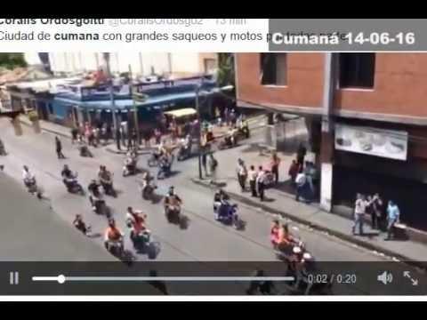 Cumaná (saqueos y disturbios por falta de comida) 14-06-16