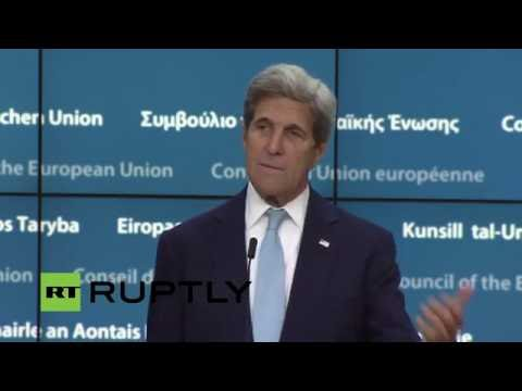 LIVE: Kerry and Mogherini hold joint press conference following EU - US talks in Brussels