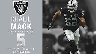 #5: Khalil Mack (LB, Raiders) | Top 100 Players of 2017 | NFL