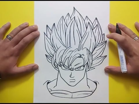 Como dibujar a Goku paso a paso 3 - Dragon ball | How to draw goku 3 - Dragon ball