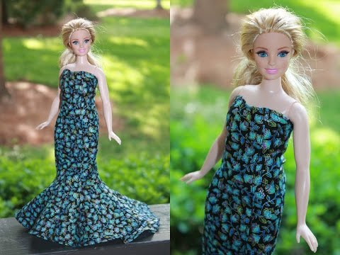 Как сшить платье для кукол барби без липучек 6