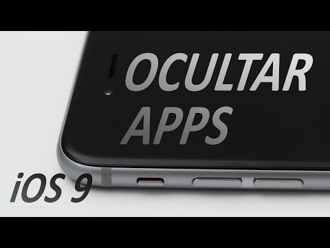 CÓMO OCULTAR APPS EN TU iPhone o iPad - iOS 9