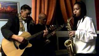 Caroling 2011 Nika on Sax