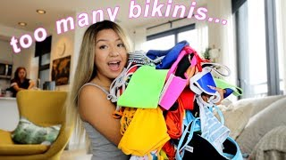 a huge bikini collection try-on 2019 (i live in canada where it snowing???)