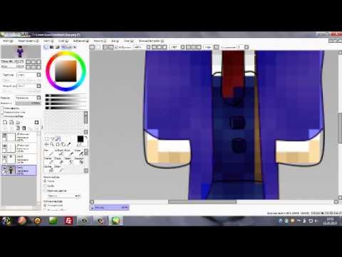 #1 Урок по программе Paint Tool SAI | Как нарисовать полный Skin Minecraft.