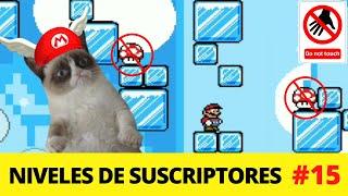 Super Mario 4 Jugadores / NO TOQUES LOS HONGOS SOBRE HIELO 😥 / Niveles de suscriptores #15