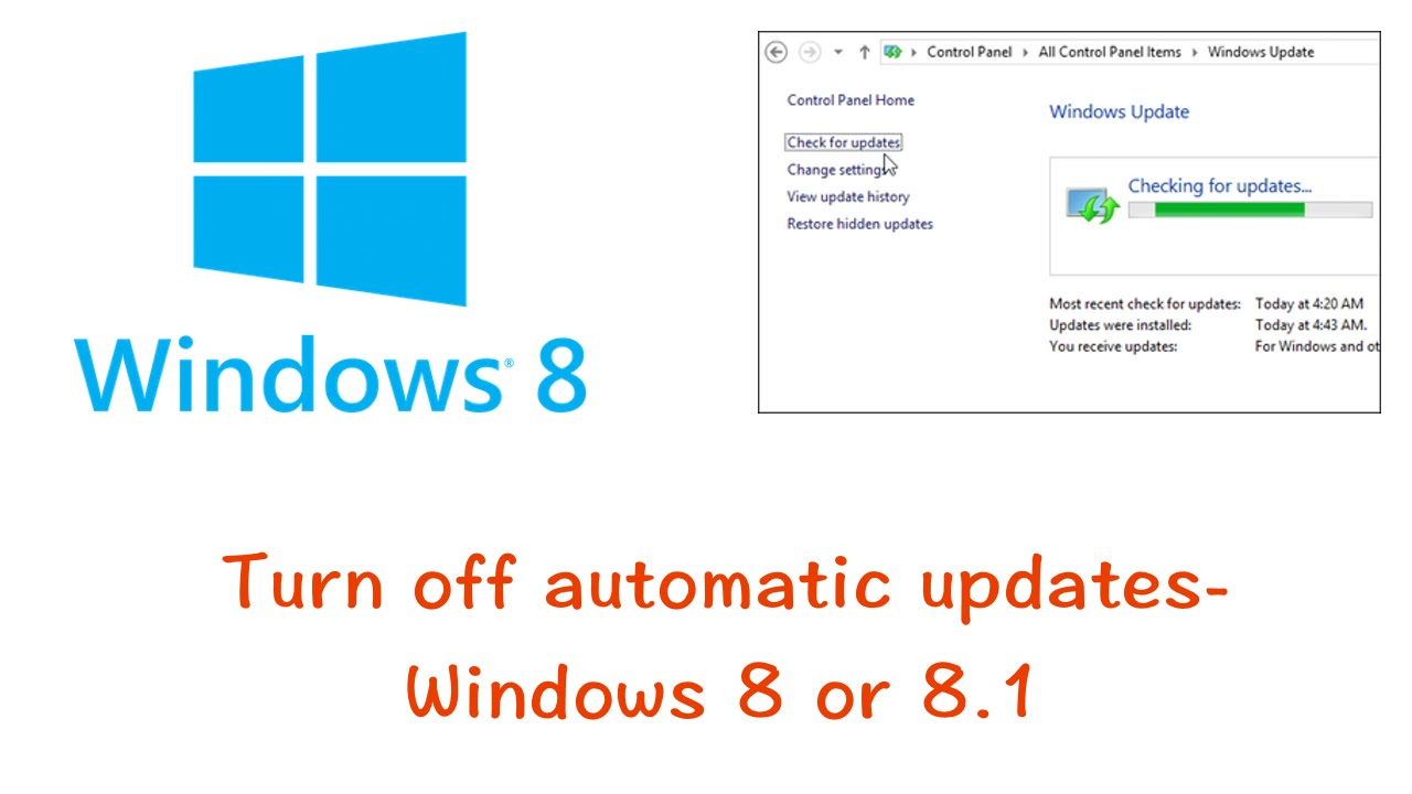 How to disable automatic updates in Windows 8 - TechPluto