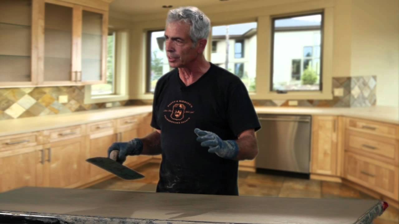 Cast In Place Concrete Countertops : How to make a cast in place countertop youtube