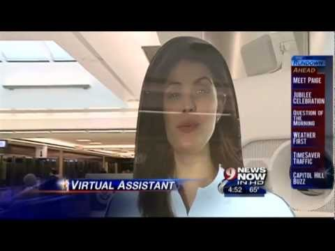 06/04/2012 A life-size hologram is making passengers do a double take at Dulles International Airport. It's the first of its kind in the country. Paige is pa...