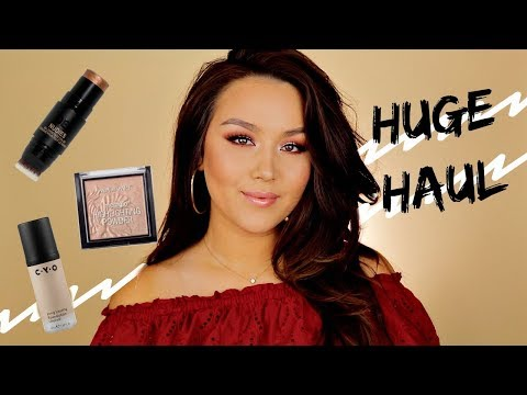 HUGE BEAUTY HAUL + REVIEW   DRUGSTORE + ULTA