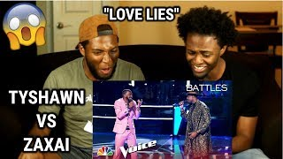 "Download Lagu Tyshawn Colquitt and Zaxai Duet to Khalid and Normani's ""Love Lies"" - The Voice 2018 Battles Gratis STAFABAND"