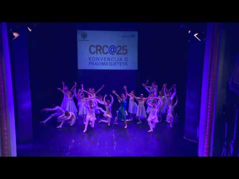 UNICEF MNE - Montenegro's young people celebrate UN CRC 25th anniversary through dance