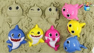 Learning Color BabyShark Kinetic Sand Colorful Sharks Nursery Rhymes Songs play video for kids