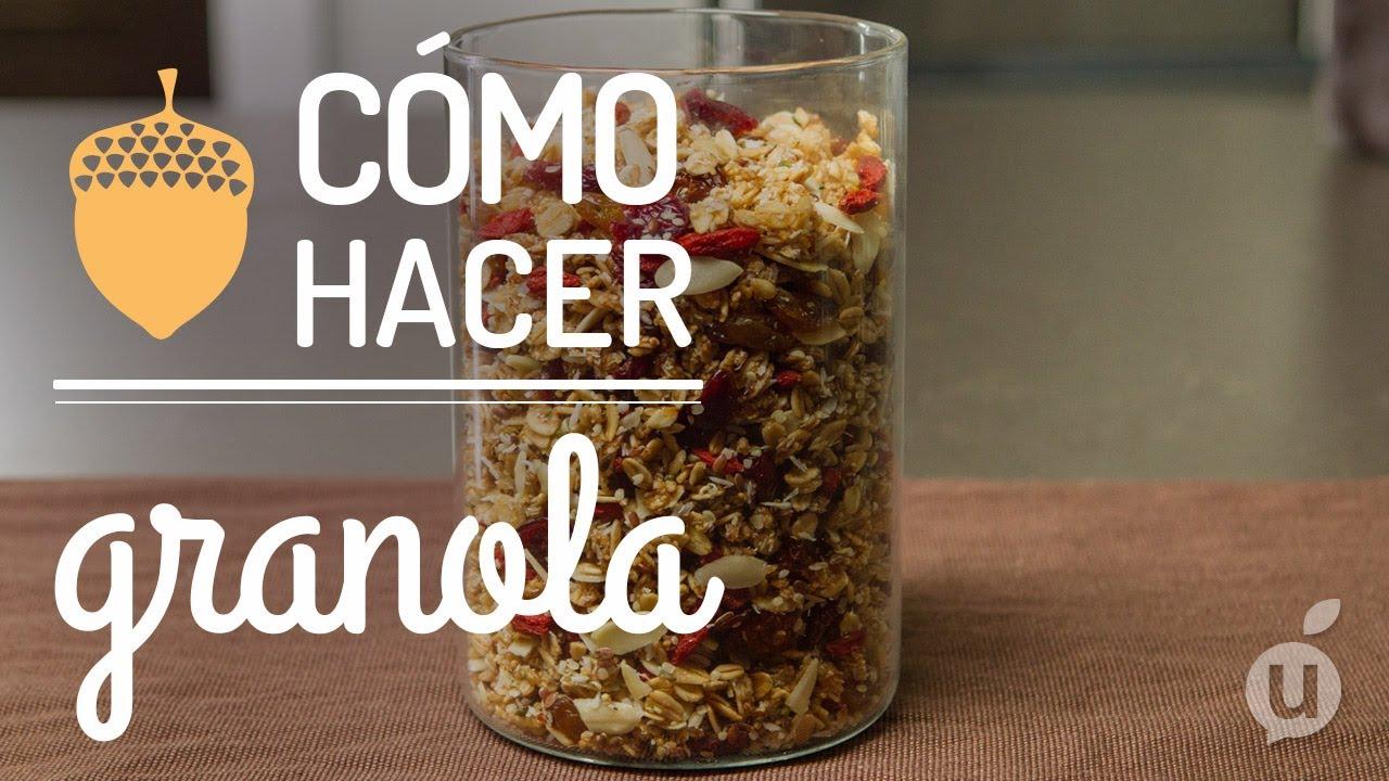 C mo hacer granola receta de granola casera granola en for Como hacer piscicultura en casa