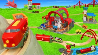Brio şehrinde tren - itfaiyeci, polis oyuncak arabalar - Brio trains and toys
