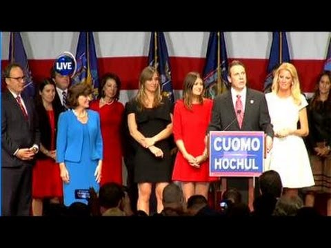Gov. Andrew Cuomo speaks on Election night