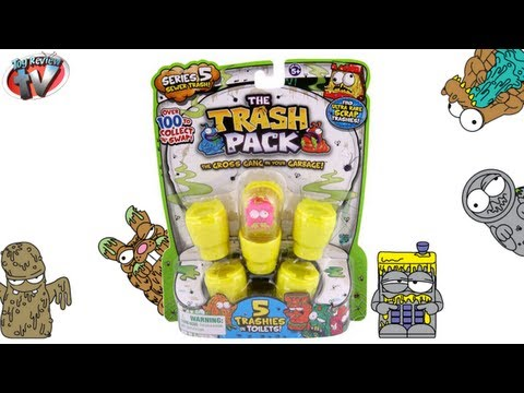 The Trash Pack Series 5. 5 Pack Toy Review. Moose